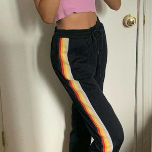 AE RAINBOW STRIPES TRACKPANTS OPEN ANKLE SIZE XS